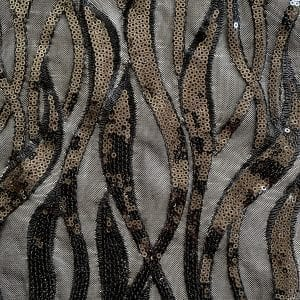 Black Sequin Mesh Fabric