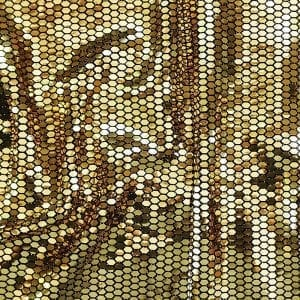 Gold Honeycomb Sequin Fabric