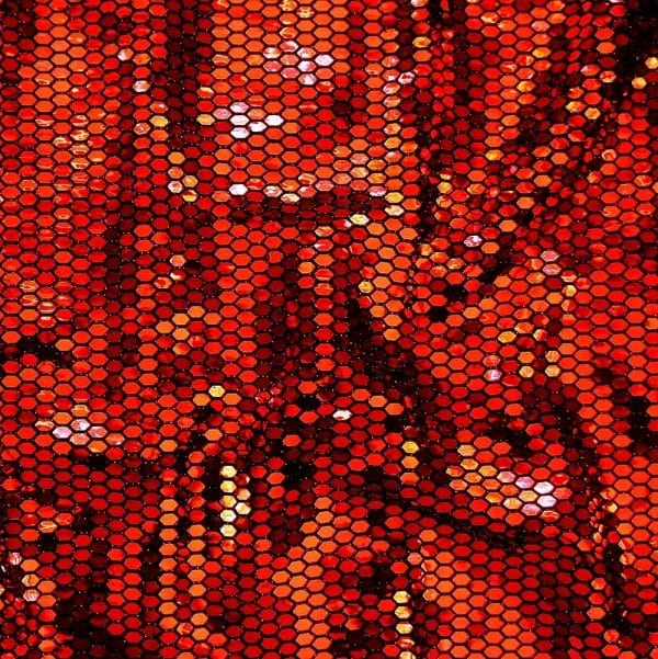 Red Flat Mirror Sequin Fabric