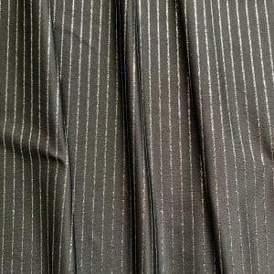 Grey Glitter Pinstripe Fabric