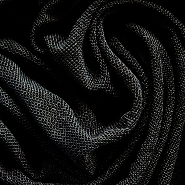 Black Fishnet Mesh fabric is super soft, stretchy and features a smaller scale classic fishnet style mesh