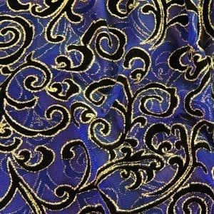 Purple Glitter Flocked Mesh Fabric - SOLID STONE FABRICS, INC.