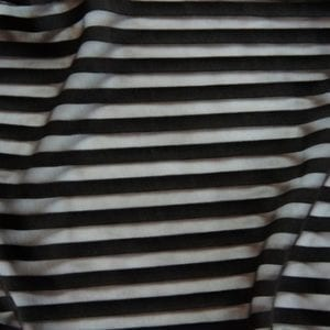 striped mesh fabric