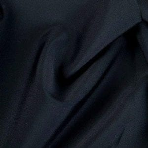 Matte Black Tricot Fabric