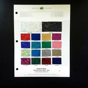 "Shattered Glass Fabric Swatches / Color card features full size ""feeler"" fabric swatches and all available fabric colors on one card for your convenience."