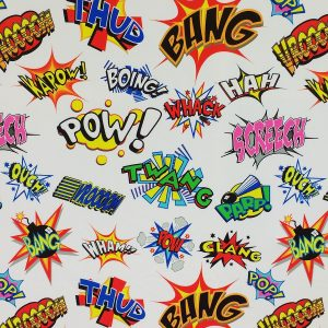 Comic Print Stretch Fabric