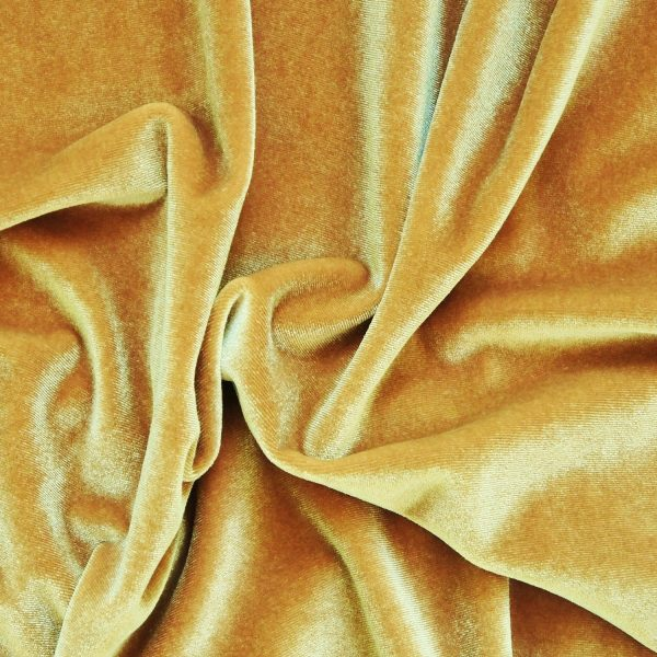 Solid Gold Velvet Fabric - Gold Velvet By The Yard - Solid Stone Fabrics, Inc.