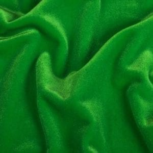 Solid Green Velvet Fabric