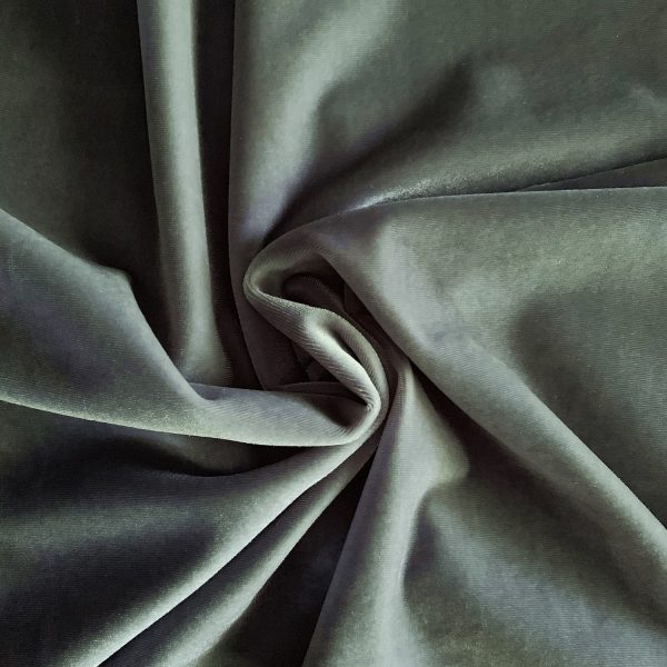 Solid Grey Velvet Fabric - Fabric By the Yard - Solid Stone Fabrics, Inc.