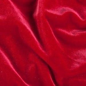 SOLID RED VELVET FABRIC