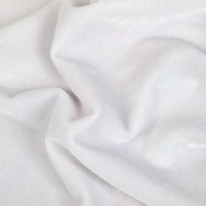 DANCE SOLID WHITE VELVET FABRIC