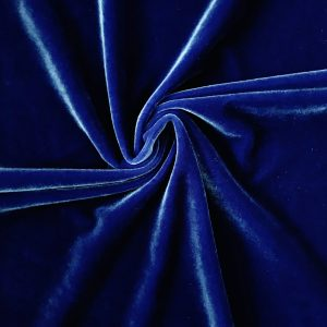 Solid Blue Velvet Fabric - Stretch Velvet By The Yard - Solid Stone Fabrics, Inc.