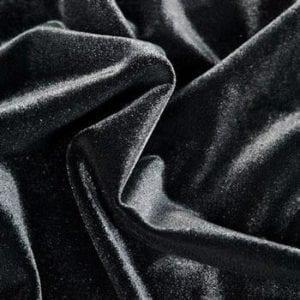 Solid Black Velvet Fabric