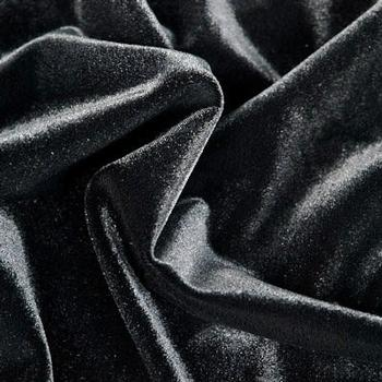 Solid Black Velvet Fabric