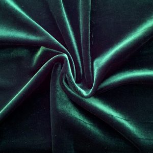 Forest Green Velvet Fabric - Velvet By The Yard - Solid Stone Fabrics, Inc.