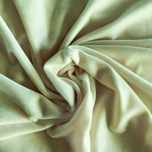 Solid Ivory Velvet Fabric - Stretch Velvet Fabric By The Yard - Solid Stone Fabrics, Inc.