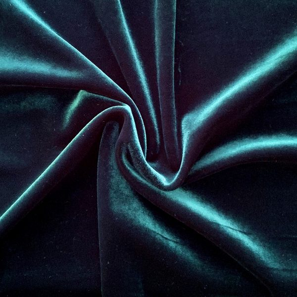 Solid Mallard Green Velvet Fabric - Buy Stretch Fabrics Online - Solid Stone Fabrics, Inc.