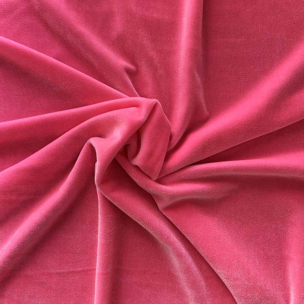 Solid Pink Velvet Fabric - Solid Stone Fabrics, inc.