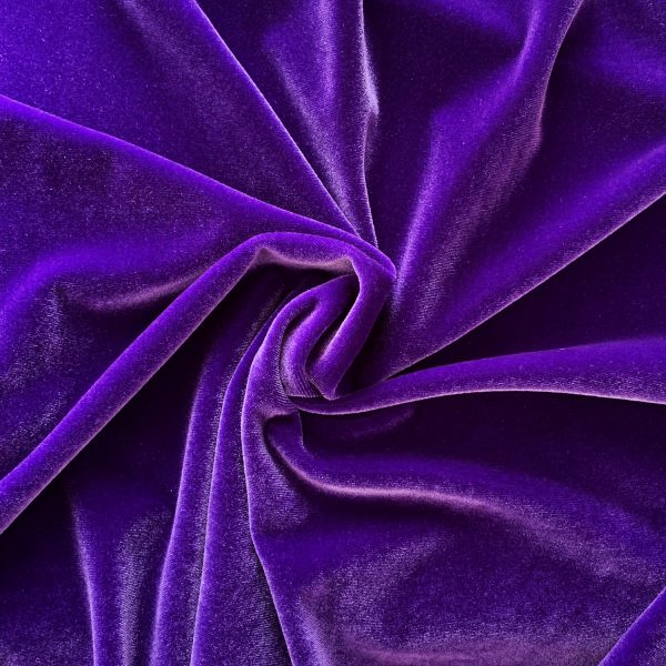 Solid Purple Velvet Fabric - Velvet By The Yard - Solid Stone Fabrics, Inc.