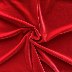 Solid Cherry Red Velvet Fabric - Red Velvet By The Yard - Solid Stone Fabrics, Inc.