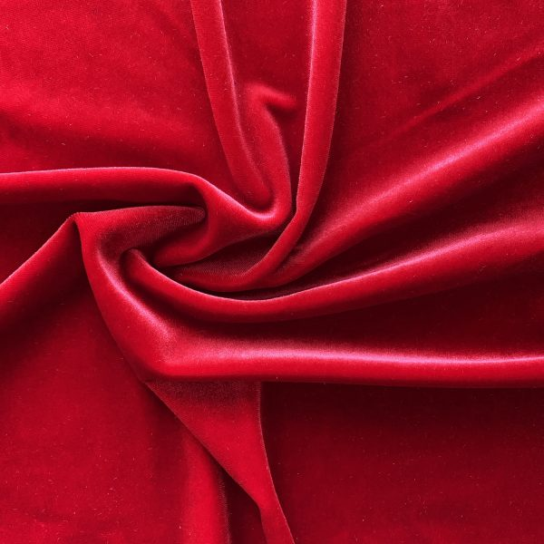 Solid Red Velvet Fabric - Velvet By The Yard - Solid Stone Fabrics, inc.