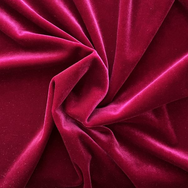 Solid Wild Rose Velvet Fabric - Velvet By The Yard - Solid Stone Fabrics, Inc.