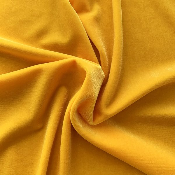Solid Yellow Velvet Fabric - Velvet Fabrics By The Yard - Solid Stone Fabrics, Inc.
