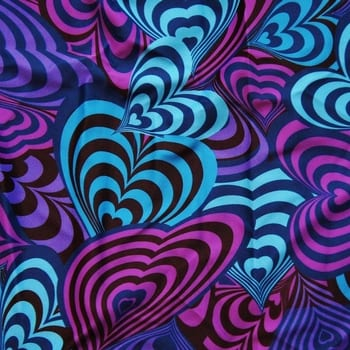 Heart print fabric by the yard. Colorful heart print fabric in bright colors Printed on stretch fabric by the yard. Printed spandex fabric by the yard. Stretch printed spandex fabric sold online by the yard. Many styles and colors, all available at no minimum order. Printed spandex fabric sold by the yard or roll. Perfect for dance, swim, cheer, bows, gymnastics, figure skating, costume, cosplay, apparel and more. Fabric sold by the yard or roll at no minimum.