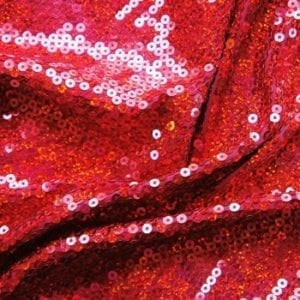 Red Sequin Stretch Fabric