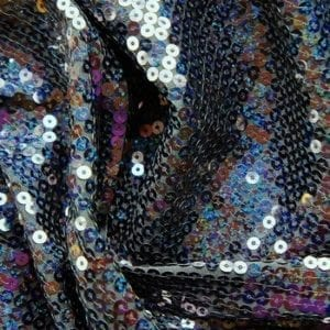 Black Sequin Stretch Fabric