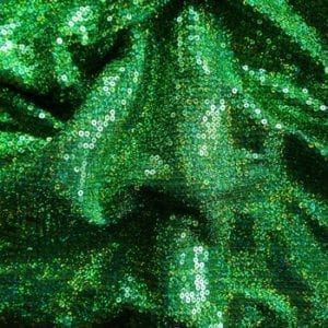 Kelly Green Sequin Stretch Fabric