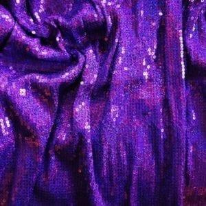 Purple Sequin Stretch Fabric