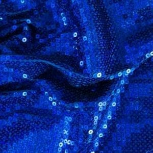 Royal Blue Sequin Stretch Fabric