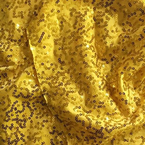 Yellow 3mm Swirl Sequin Fabric