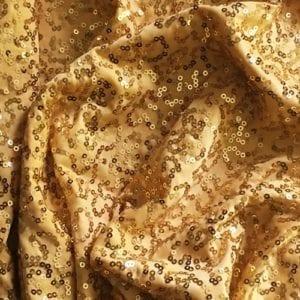 GaGa Gold 3mm Swirl Sequin Fabric