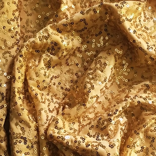 GaGa Gold 3mm Swirl Sequin Fabric