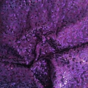 GaGa Purple 3mm Swirl Sequin Fabric