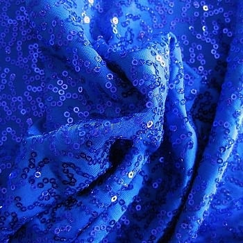 GaGa Royal Blue 3mm Swirl Sequin Fabric