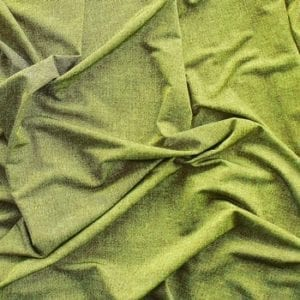 Green Denim Print Fabric