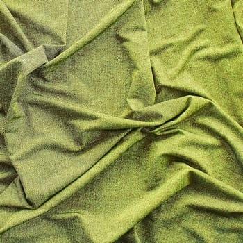 Green Denim Print Fabric