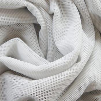 White Fishnet Mesh Fabric