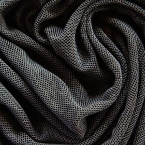 Black Fishnet Mesh Fabric
