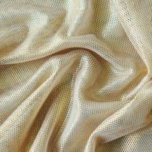 Gold Metallic Fishnet Mesh Fabric