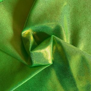 Lime Green Mystique Spandex Fabric by the yard. Metallic Stretch Fabrics online - Solid Stone Fabrics, Inc.