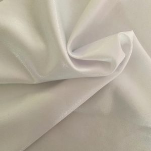 Mystique White Spandex Fabric is perfect for dance, cheer, bows, gymnastics, figure skating, costume, cosplay, apparel and more.