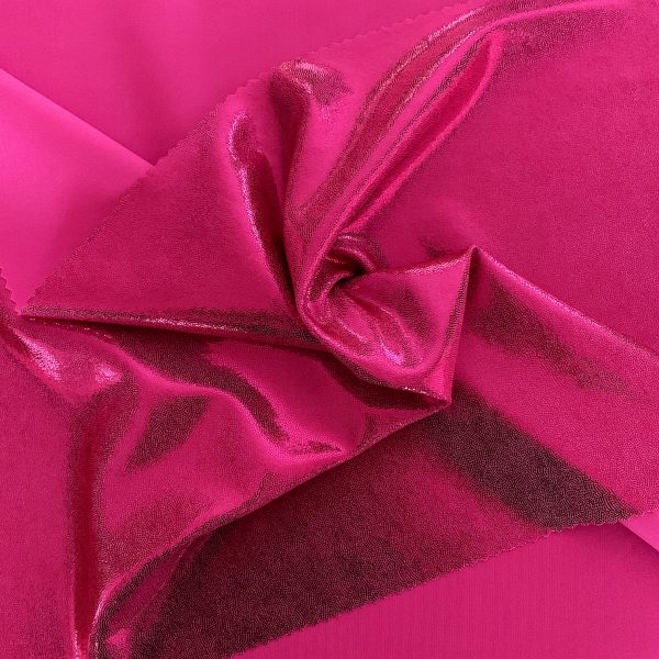 Fuchsia Mystique Spandex Fabric is perfect for dance, cheer, bows, gymnastics, figure skating, costume, cosplay, apparel and more.