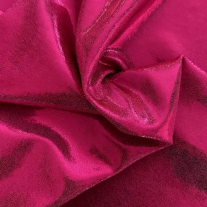 Fuchsia Mystique Spandex Fabric - Stretch Metallic Fabrics By The Yard - Solid Stone Fabrics, Inc.