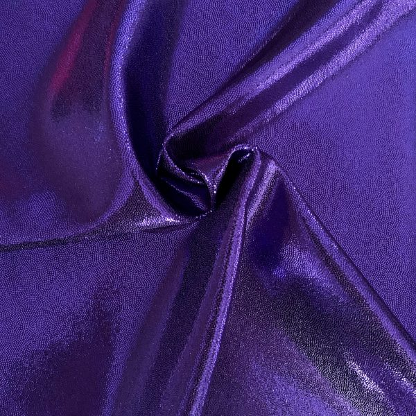 Purple Cheer Bow Fabric Mystique Spandex Fabric is perfect for dance, cheer, bows, gymnastics, figure skating, costume, cosplay, apparel and more.