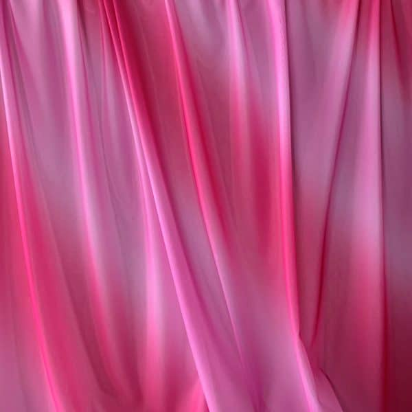 Pink Ombre Stretch Mesh Fabric