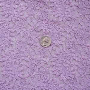 Mauve Stretch Lace Fabric
